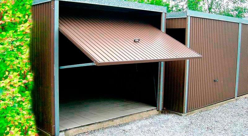 Decochalet Abri Jardin Carport Garage Bois Toit Plat
