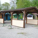 Carport avec 4 murets décoratifs