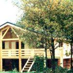 Maison en bois sur sousbassements en dur