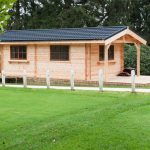 Chalet bois avec terrasse Start golf