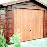 Garage en bois toit à deux pentes