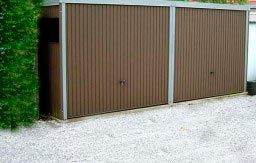 Double garage métallique