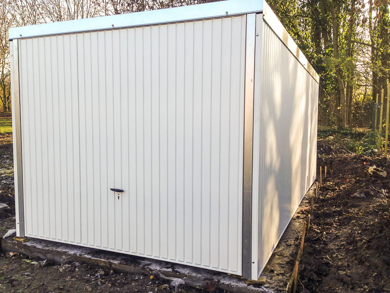 garage métallique 270x520 blanc