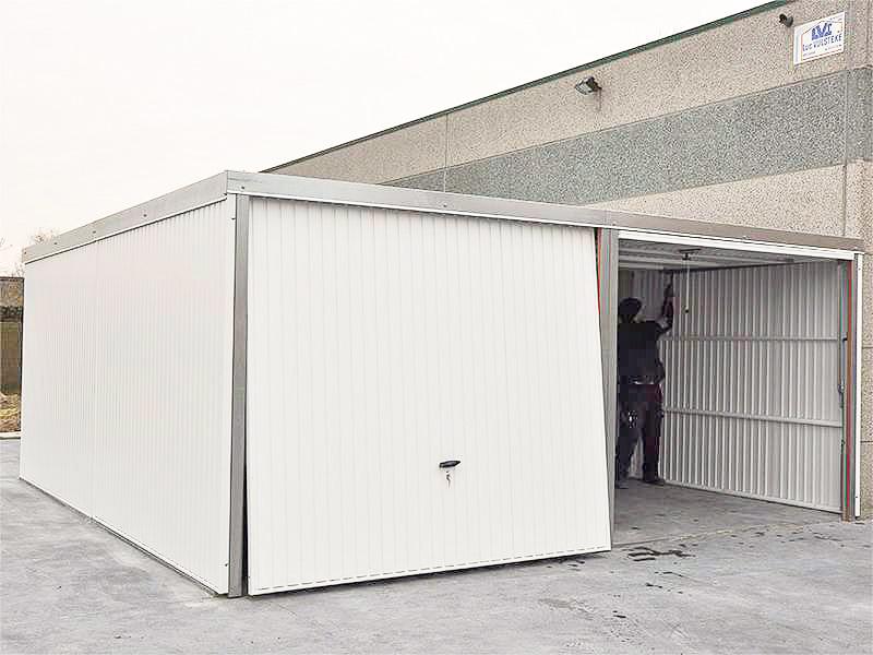garage métal 530x520 blanc