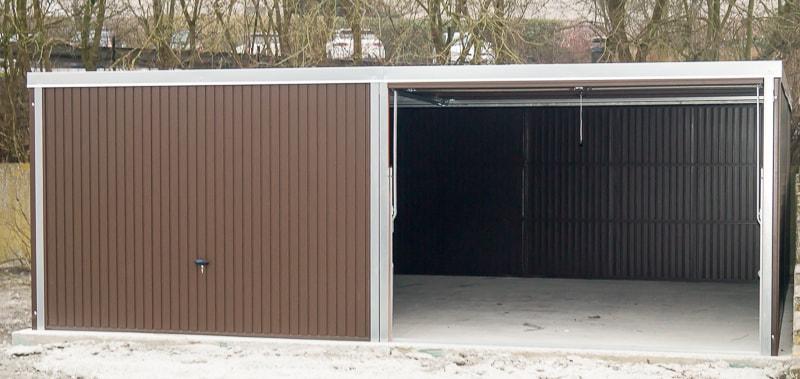 garage en tôle 630x520 brun