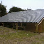 Grand carport monopente pour panneaux photovoltaiques