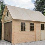 Garage bois 1 voiture avec une toiture à 40°