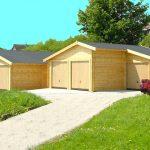 ensemble de 4 garages en bois de coin