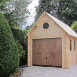 Simple garage avec une toiture à 40°