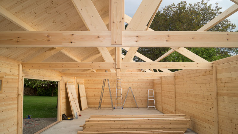 construction d'un hangar garage ne bois | decochalet - Construction D Un Garage En Bois