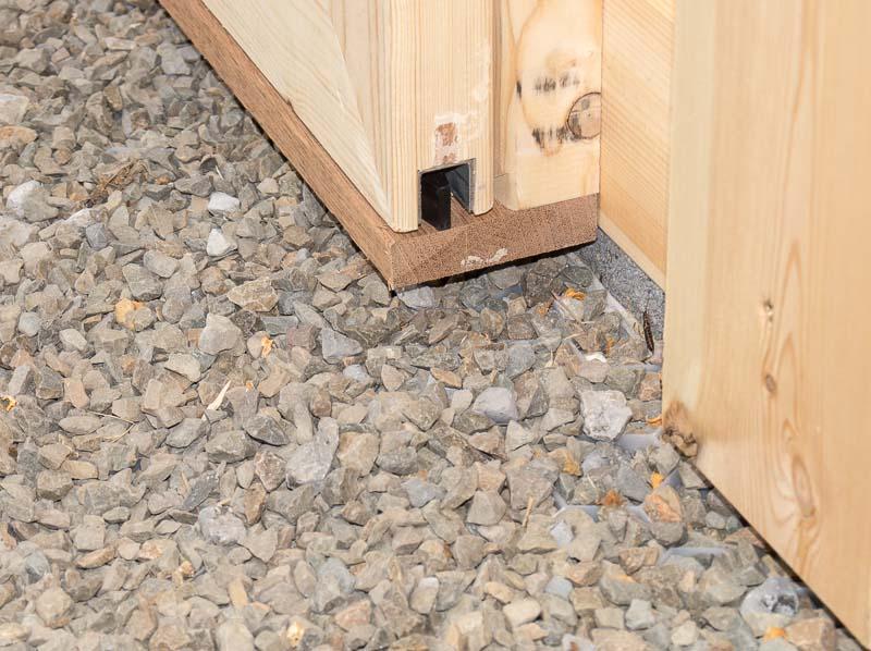 glissière double porte hangar en bois