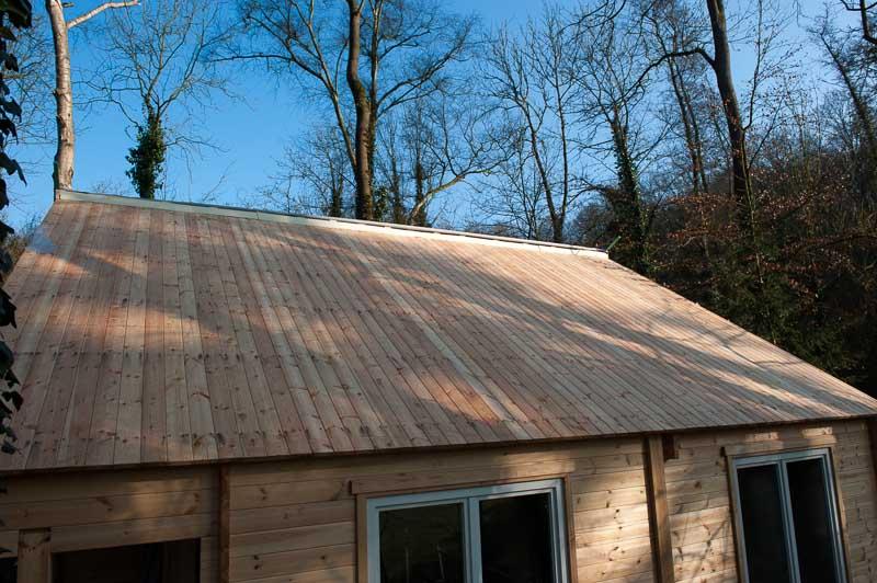 Plancher de toiture du chalet