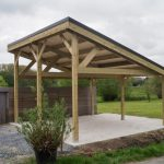 Carport bois monopente pour panneaux photovoltaiques