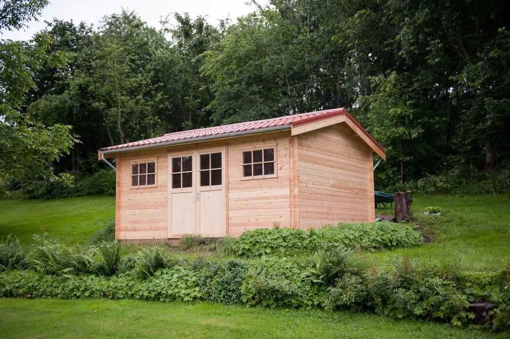 Decochalet abri jardin carport garage bois toit plat for Toiture abri de jardin
