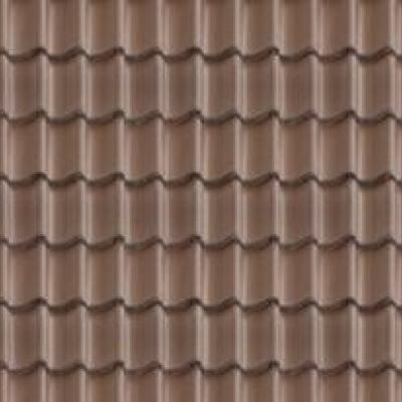 tuile beton brune