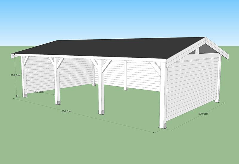 Carport toit 2 versant normes CODT