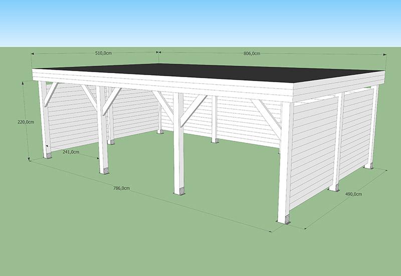 Carport toit plat normes CODT 40M2