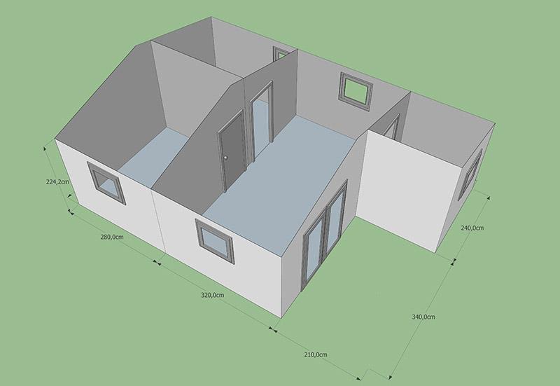 Chalet 40M2 avec toiture CODT