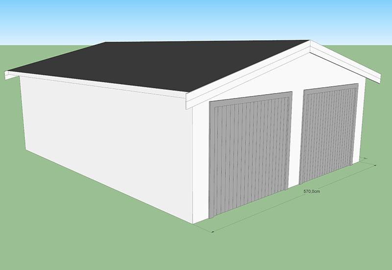 Garage en bois max 40M2 CODT
