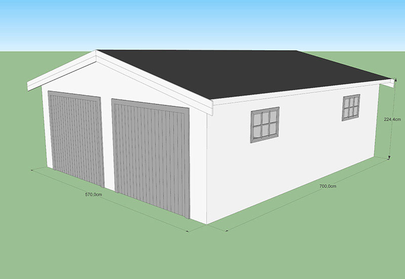 Garage 40M répondant aux normes CODT