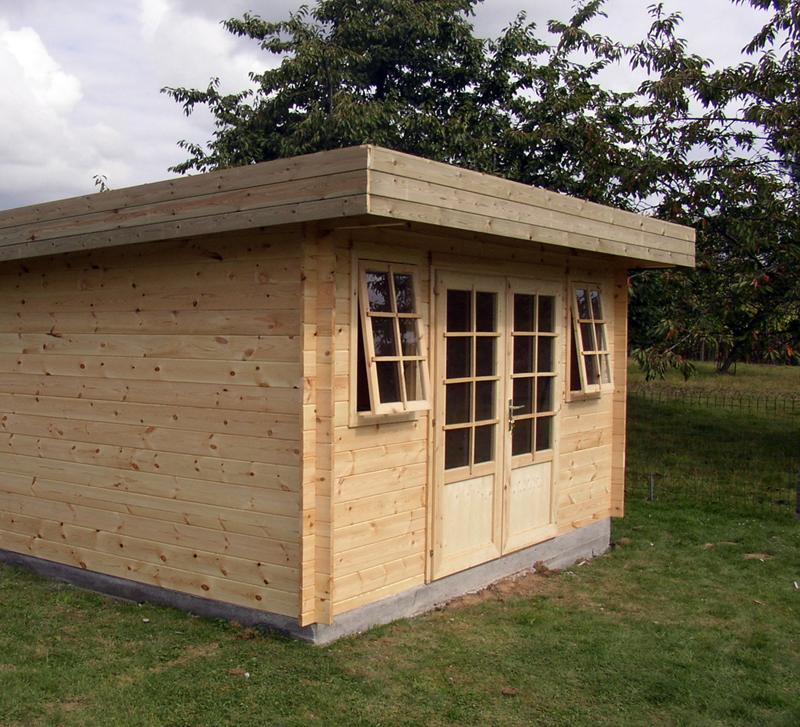 Abris jardin toit plat moderne chalets bois qualité sur ...